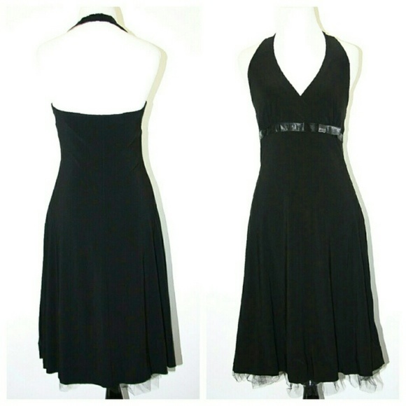 B Darlin Dresses & Skirts - B Darling Halter Dress Black Flirty Tulle Lining